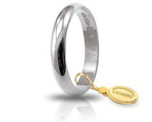 Fede Matrimonio in Oro Bianco Classica Gr. 3 Brand