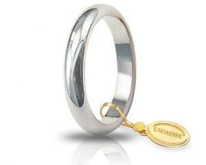 Fede Matrimonio in Oro Bianco Classica Gr. 5 Brand