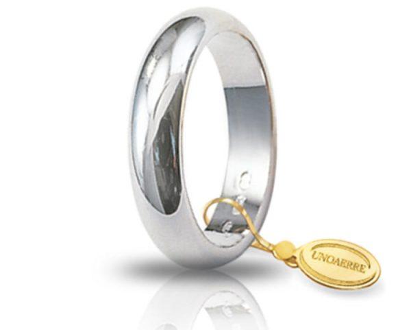 Fede Matrimonio in Oro Bianco Classica Gr. 7 Brand