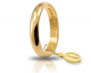 Fede Matrimonio in Oro Giallo Classica Gr. 3 Brand