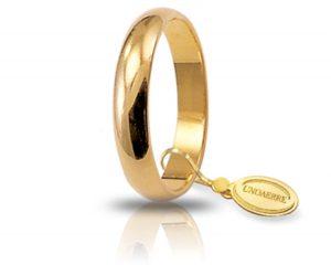 Fede Matrimonio in Oro Giallo Classica Gr. 4 Brand