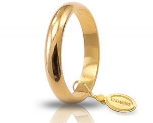 Fede Matrimonio in Oro Giallo Classica Gr. 5 Brand