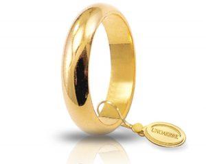 Fede Matrimonio in Oro Giallo Classica Gr. 7 Brand