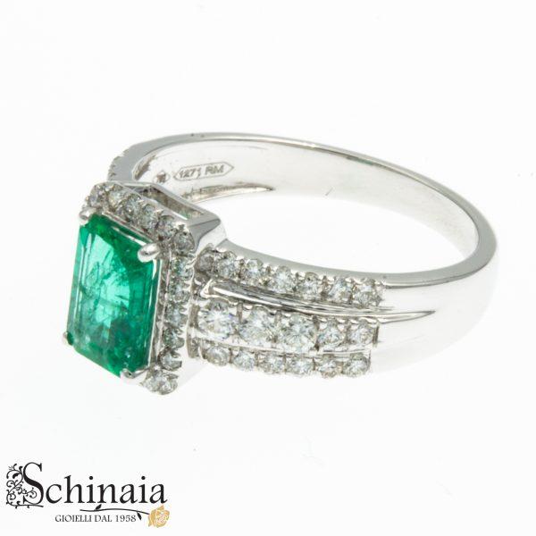 Anelli DonnaOro Oro 18KT Smeraldo e Diamanti – DCAe3636 Anelli Donna