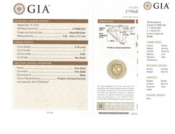 Girocollo Donna Oro 18K con Diamanti GIA 0.18 FVVS2 – GIA681067 Collane Donna